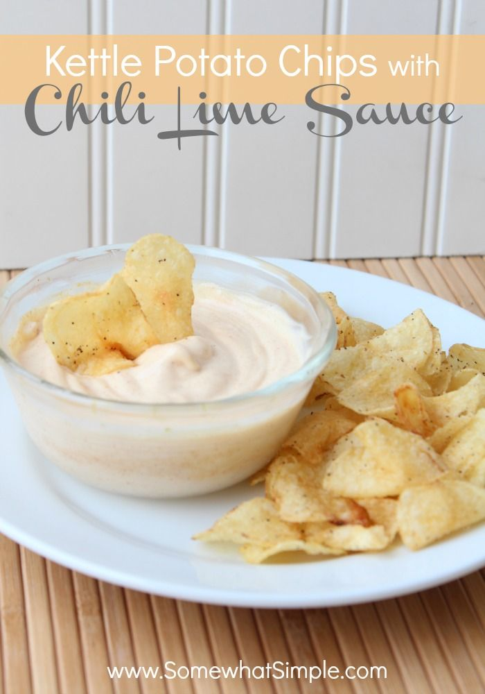 Chili lime sauce recipe - perfect for potato chips!