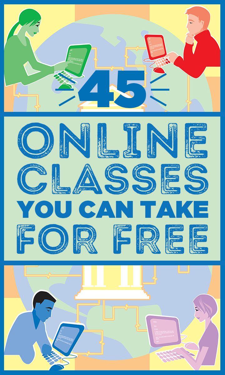 45 online classes - Law, Entrepreneur, Computer Science, Communications, etc.
