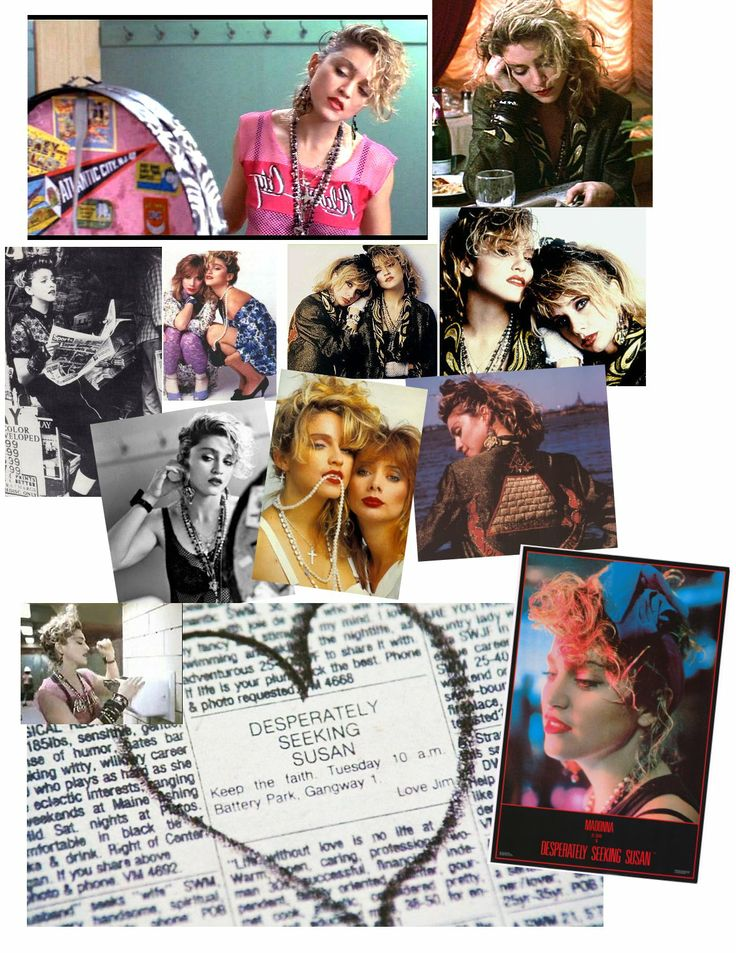 Desperately Seeking Susan - My FAVORITE movie as a teen. Every Madonna fan's fashion-instructional dream <3