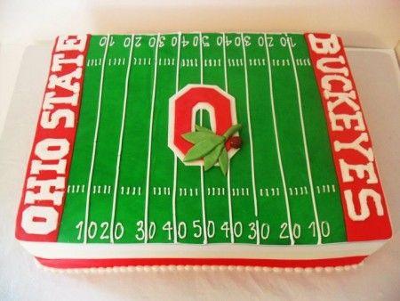 Saints Football Field Cake Ideas