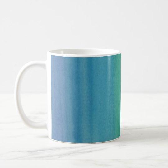 Ombre Watercolor Print Mug Mermaid Colors