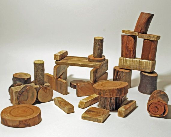 Little Learners Natural Wooden Blocks