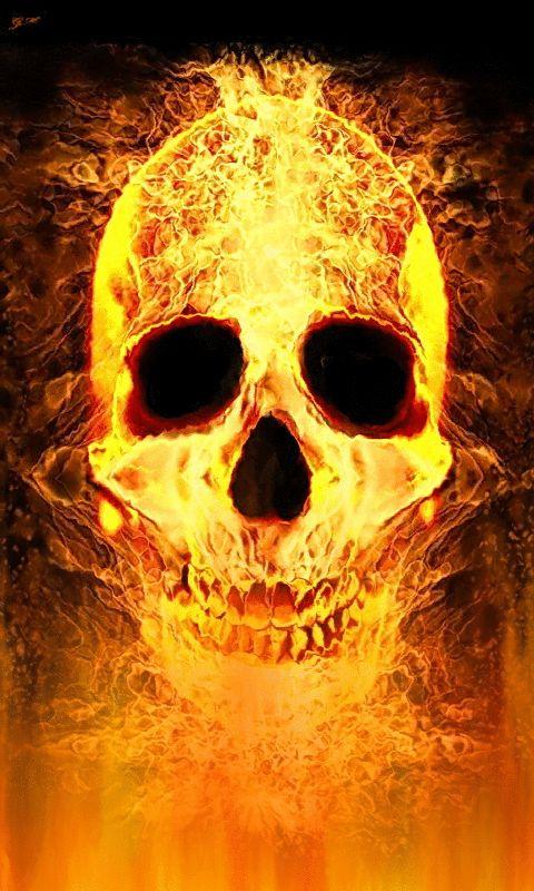 картинки горит череп растереть пух, затем