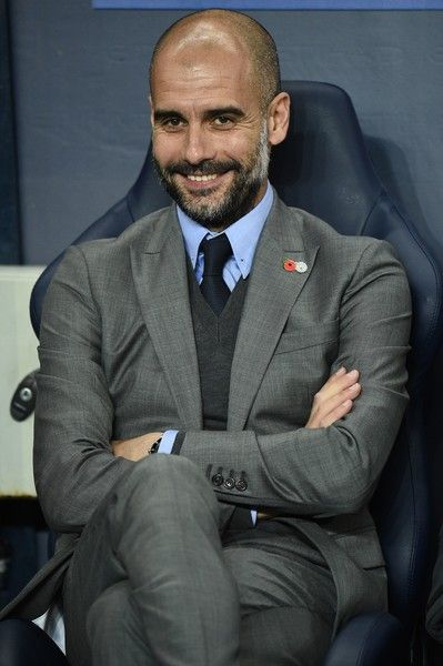 Manchester City's Spanish manager Pep Guardiola watches during the UEFA Champions League group C football match between Manchester City and Barcelona at the Etihad Stadium in Manchester, north west England on November 1, 2016. / AFP / OLI SCARFF