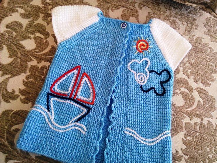 Tunus İşi Erkek Bebek Yeleği Yapılışı nı anlatmaya çalıştır. Bu Erkek Bebek Yeleği 1 Yaş bebekler için yapılan bir yelek Ölçülere göre 132 ilmeğe denk geldi
