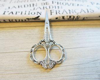Embroidery scissor ,silver scissor,  Gray Stainless Steel Scissors, decorative scissor, embroidery scissors, sewing supplies, gift
