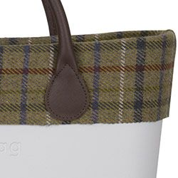 Tartan Wool Trim - Green - an O Bag CLASSIC Accessory