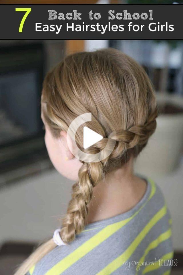 Verwonderend 25 Eenvoudige kapsels voor School Girls | Kapsels Ideeën #Easy ML-61