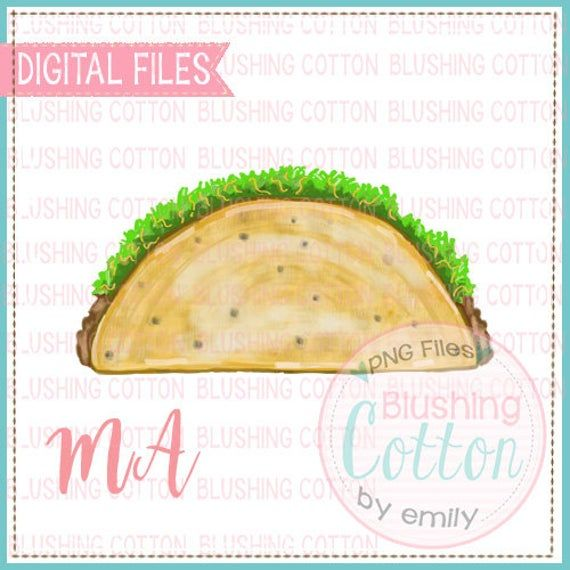 Taco Mexican Food Png Watercolor Artwork Digital File For Printing And Other Crafts Food Png Watercolor Artwork Mexican Food Recipes