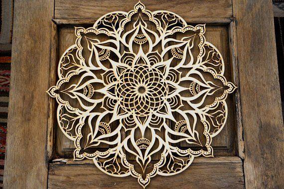 Mandala Living Room Wall Hanging Moroccan Decor Wood Wall Art