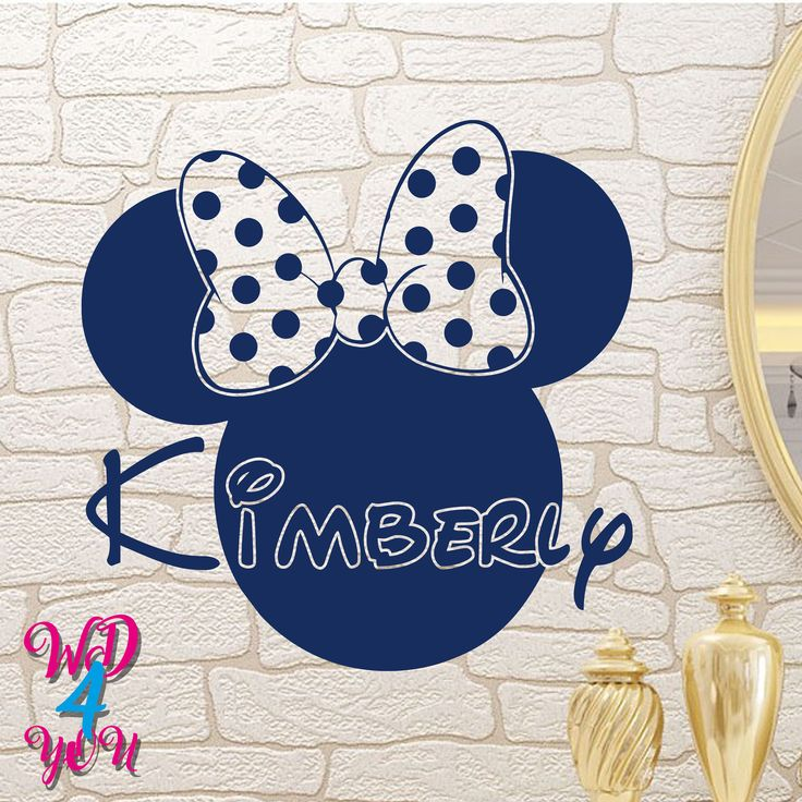 Minnie Mouse Custom Decals Murals Disney Wall Name Decal Personalized Baby Name Wall Decals Girls Room Nursery Wall Art Decor Nursery WD010 by WonderfulDecalForYou on Etsy https://www.etsy.com/uk/listing/537401296/minnie-mouse-custom-decals-murals-disney
