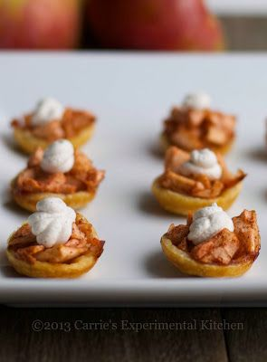 Spiked Mini Apple Tarts with Cinnamon Whipped CreamCarrie's Experimental Kitchen |