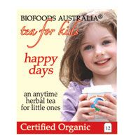 Kids happy days is a fine quality tea for little ones and tots because of its natural sweet flavor. Minerals in Rooibos along with natural fluoride and calcium.