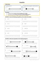 Number Line Inequalities Worksheet with Answer Sheet by mq1982 - UK Teaching Resources - TES