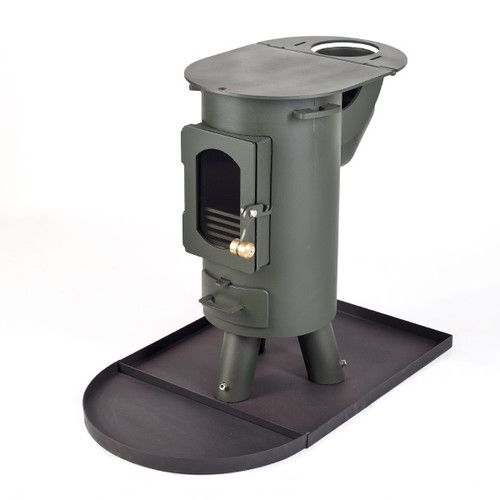 The Traveller stove log burner mutli-fuel portable wood burner Forest Green | eBay