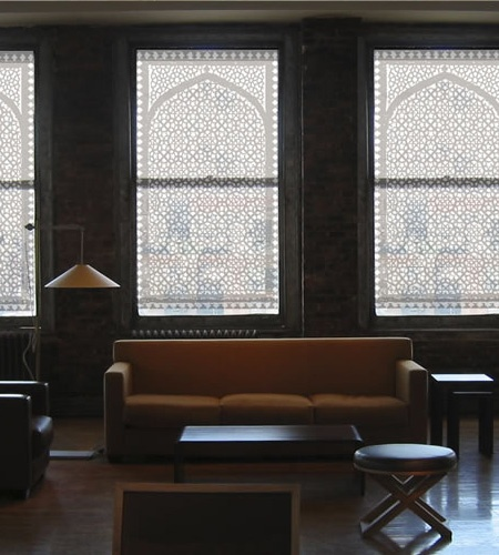 Moroccan Arch Window Shades For Story Windows In Living Room