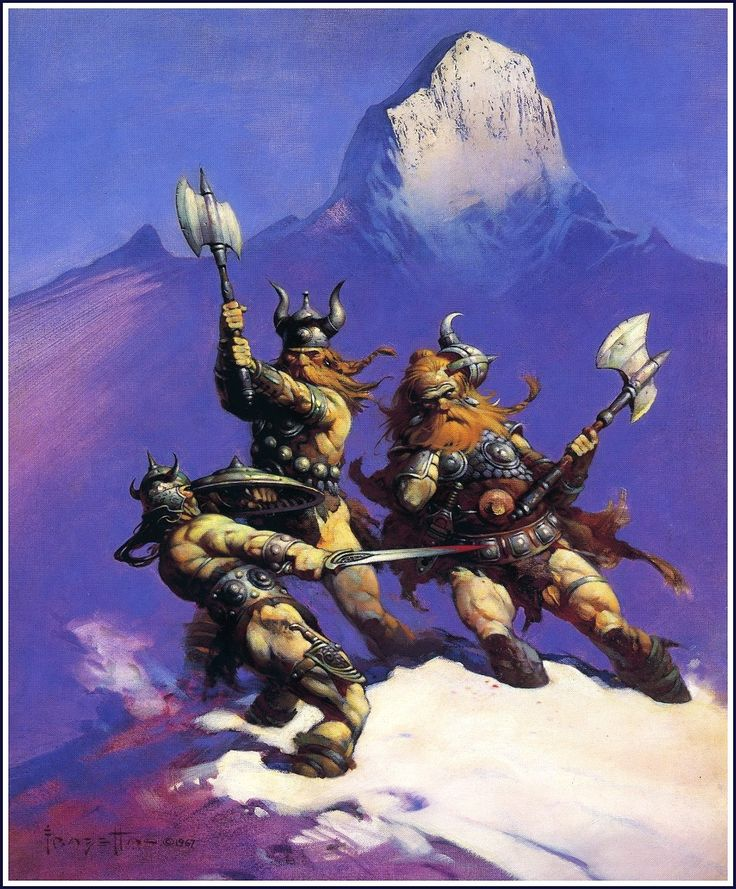 No Frazetta painting says Vikings or Valhalla to me like ...