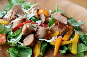 Ingredients 2 Italian turkey sausage links 2-3 cups of baby spinach 1 red pepper 1 yellow pepper 1 orange pepper 3-4 tbsp olive oil Salt  black pepper to taste 1 clove pressed garlic Handful of shredded mozzarella cheese Directions For Full Recipe Details Go Here: www.reelflavor.co...  Nutrition Facts for(...) #diet #workout #fitness #weightloss #loseweight