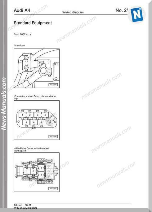 Audi A6 2002 Wiring Diagram  With Images