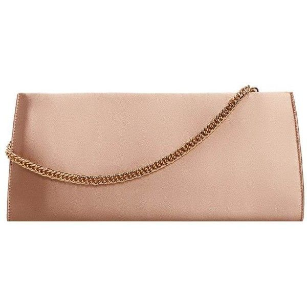 Chain Satin Clutch ($51) ❤ liked on Polyvore featuring bags, handbags, clutches, chain handbags, pink clutches, pink purse, chain strap handbags and mango handbags