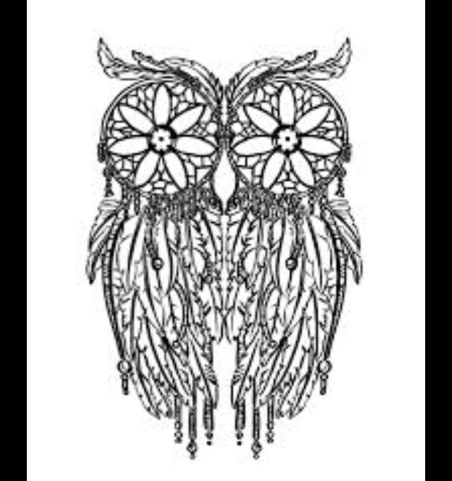 Owl dreamcatcher drawing - photo#24