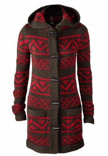Strick-Cardigan mit Norweger-Muster - Strick-Mode für den Herbst