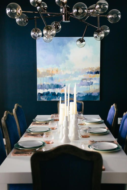 8 best lighting images on pinterest chandelier lighting arteriors dallas chandelier featured in dramic blue dining room by residentsunited mozeypictures Images