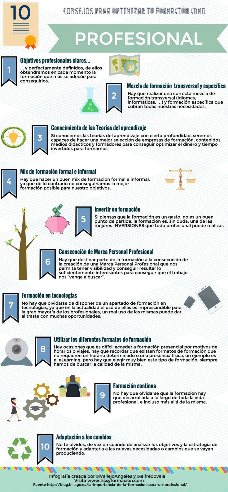 10 consejos para optimizar tu formación como Profesional #infografia #rrhh