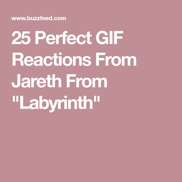 """25 Perfect GIF Reactions From Jareth From """"Labyrinth"""""""