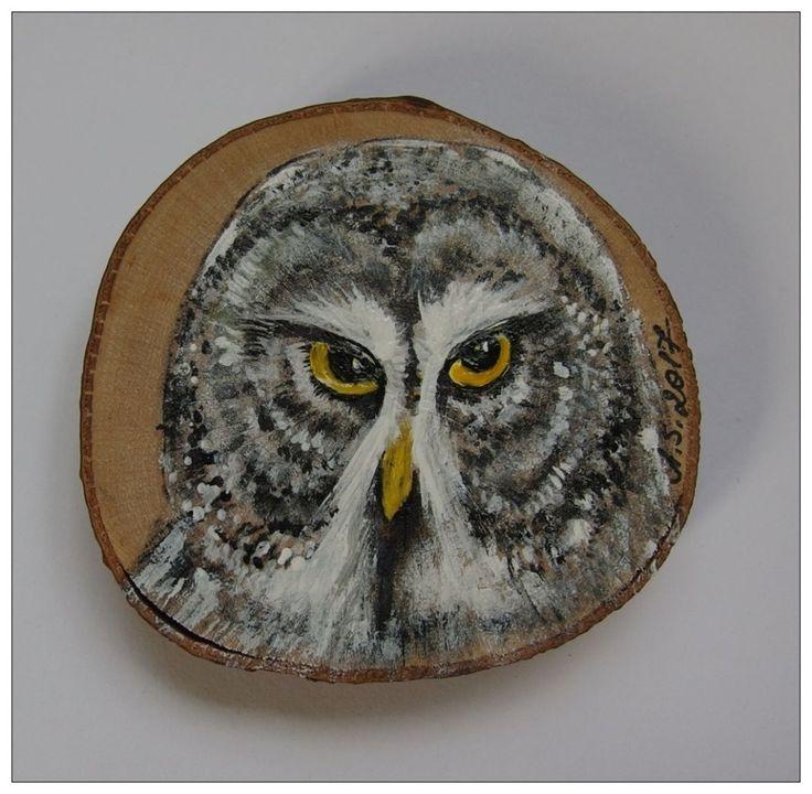 #handmade #handpainted #owl #sowa #puszczyk #tawnyowl #ptak #bird #grey #noc #fridgemagnet #xantosia_art #xantosia #reczniemalowane #drewno #wood #magnes #fridge_magnet #art #nature #gift #prezent #owl_feature