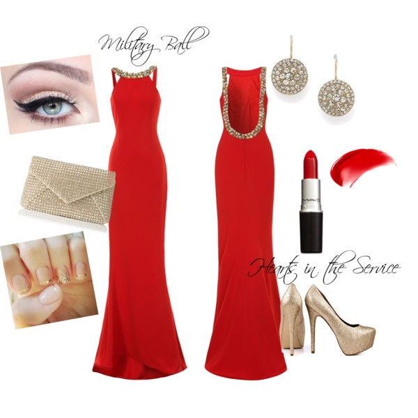 Military Ball by hearts-inthe-service on Polyvore