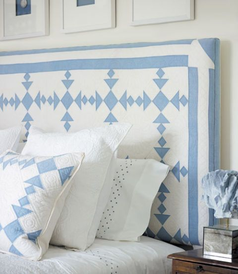 Cozy bedroom idea - Make a quilt top for a DIY headboard. #quilting #decorating #bedroom