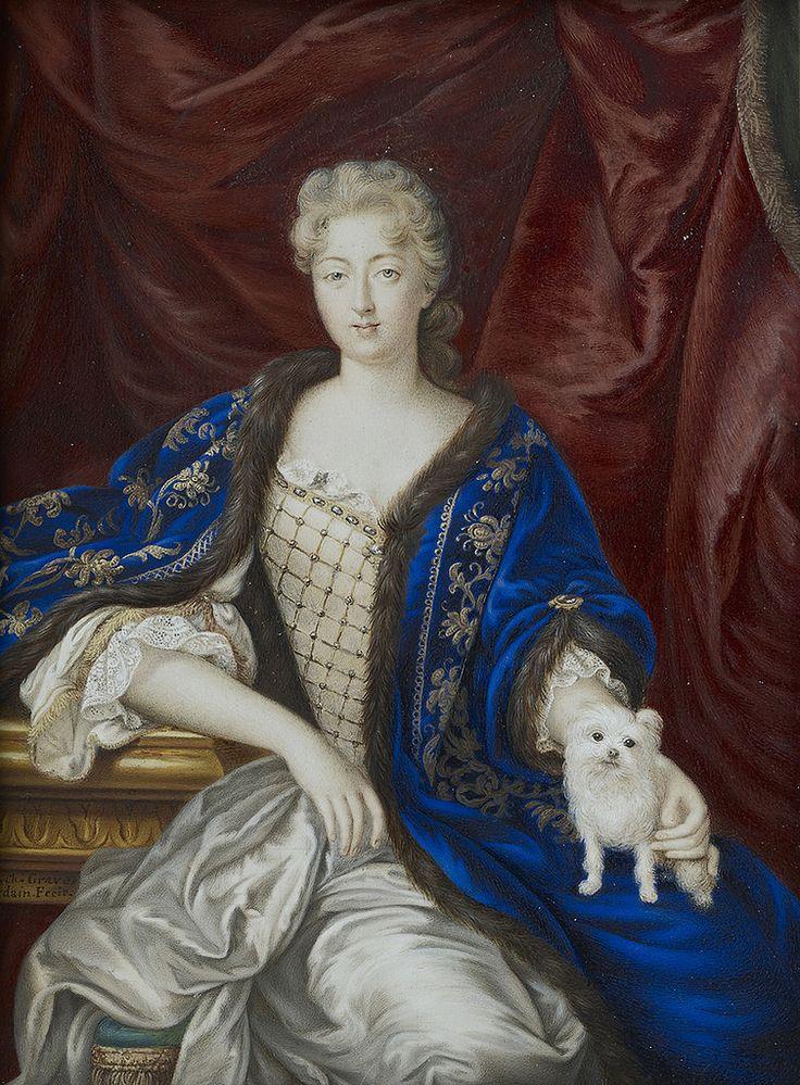 MADAME LA PRINCESSE DE CONTI, MARIE-ANNE DE BOURBON (1666-1739), legitimized daughter of Louis XIV and Louise de la Valliere, late 17th century, French school