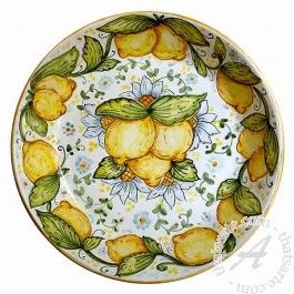 "Ghenos > Classic > Wall plate ""Lemons"""