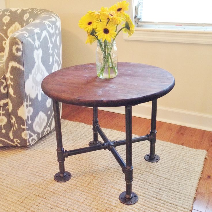 Industrial Style Round Coffee Table: 1000+ Images About Industrial Style Steel Pipe Pine Wood