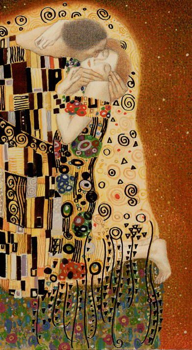 Golden Klimt- VI - The Lovers