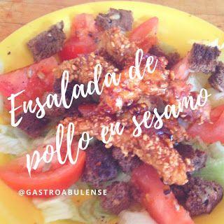 Gastronomía Abulense: Ensalada de pollo crujiente en sésamo