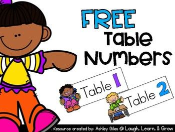 Supply Caddy Table Number Labels These colorful, table numbers are a great resource to use in your classroom! I have included 6 table groups to label one small caddy per table.