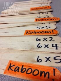 Kaboom! Possibly the best center game ever. Use to review virtually any subject matter. Use tongue depressors instead of popsicle sticks.
