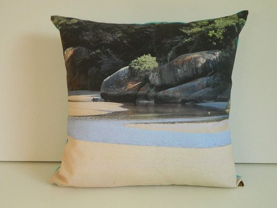24 best wildlife textiles images on pinterest cushion covers australian beach scene cushion cover by photographictextiles voltagebd Images