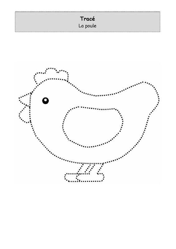 La poule à tracer