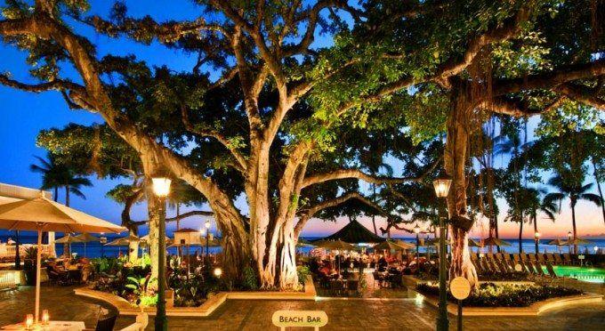 The Banyan Tree courtyard