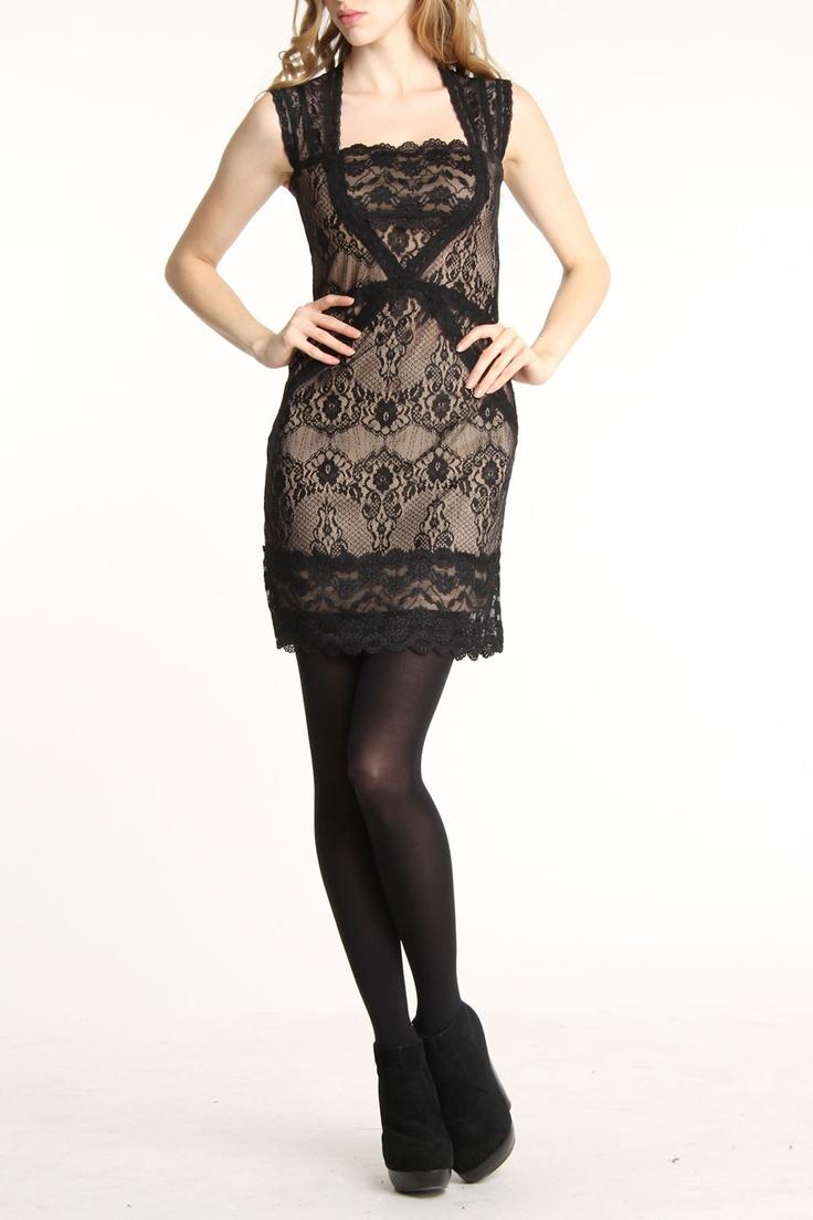 Cut-out Back Lace Dress-love it !