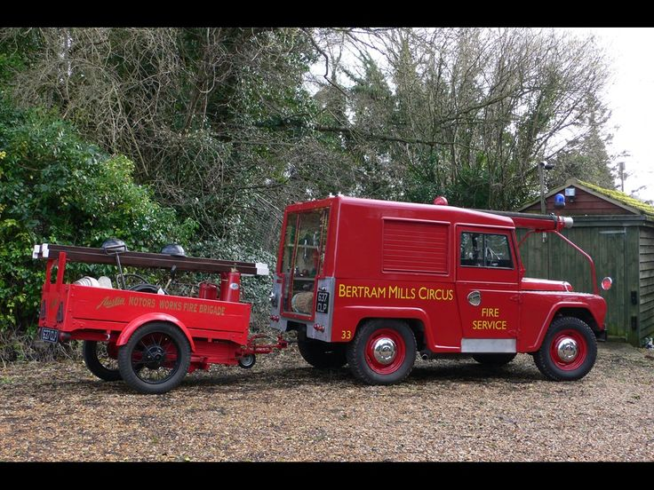 Auto Trailer For Sale Uk: 1961 AUSTIN GIPSY Fire Engine And Trailer For Sale