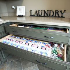 This is a must! Devote several drawers to a wrapping station in the laundry/ craft room.