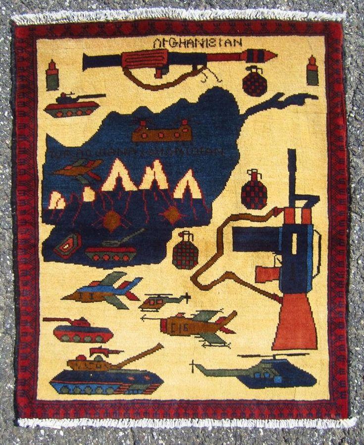 Afghan War Rug, 21st C.