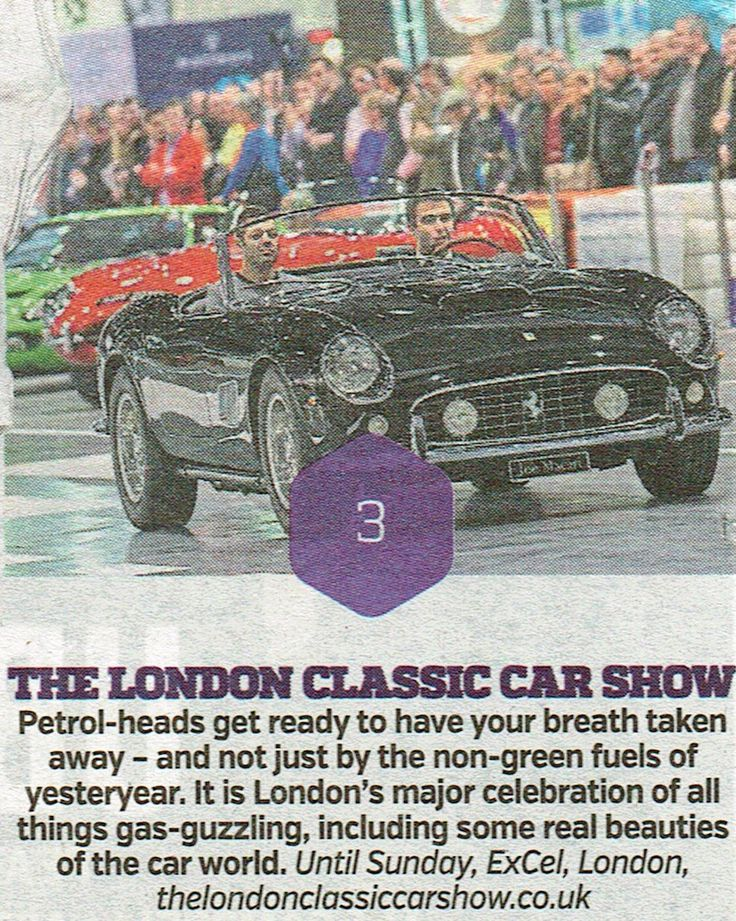 → Top 3 London events this weekend in today's Metro includes The London Classic Car Show. Visit us at Stand B220 - info and free/discounted tickets: http://www.antikbar.co.uk/news_and_events/detail/?nId=179. We look forward to seeing you! AntikBar.co.uk #LCCS2017