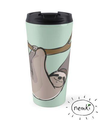 Sloth Travel Mug 15oz by nemki on Etsy
