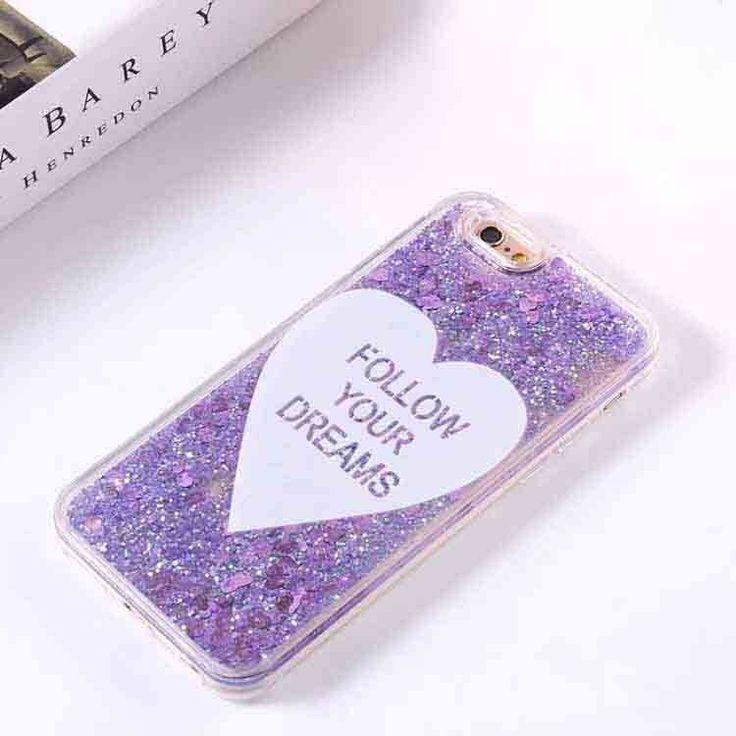 Cute Cartoon Ice Cream Glitter Stars Dynamic Liquid Quicksand Case Meteor Twinkling Cover for iPhone 6 6S PLus 6PLus Phone Cases