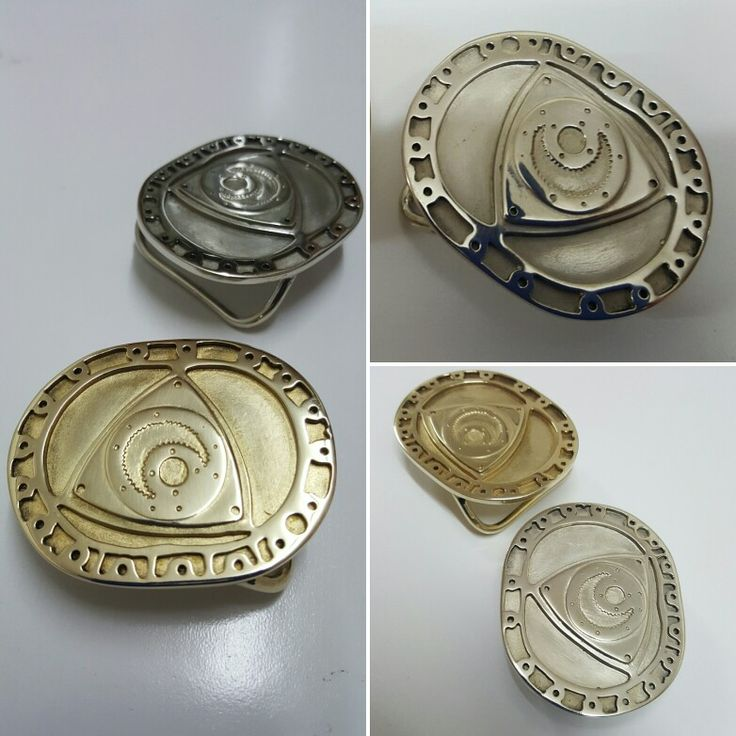 Rotary Cross Section Belt Buckles in solid Brass or Bronze. Made in Australia by Karen Ryder
